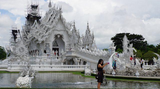 Temple Wat Rong Khun communément appelé temple blanc - Chiang Rai